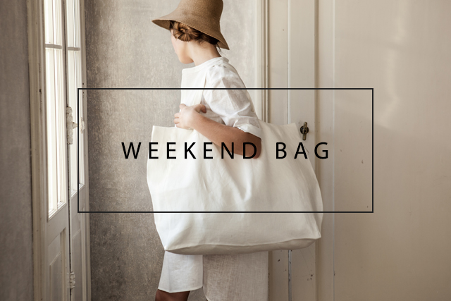 luxury linen weekend bag