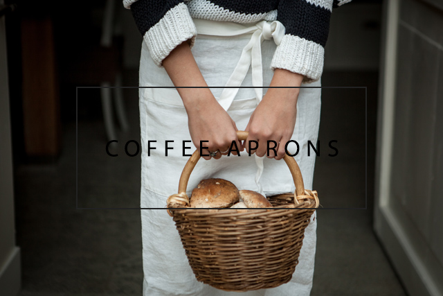 luxury linen coffee aprons