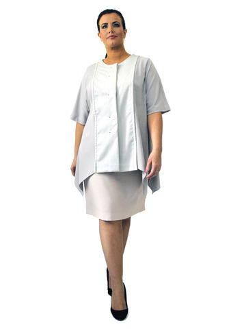 J206S13,plus size, office wear