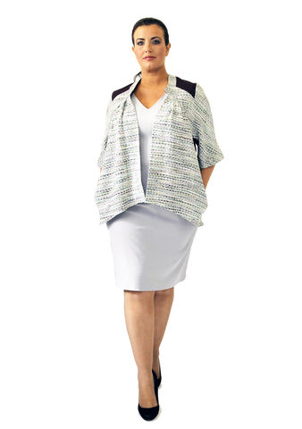 J203S13,plus size, office wear