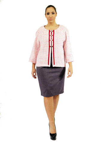 J201S13A,plus size, office wear