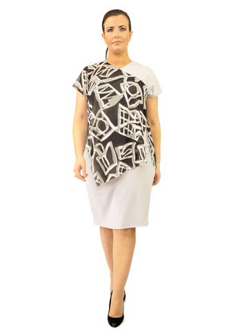 D104S13,plus size, office wear