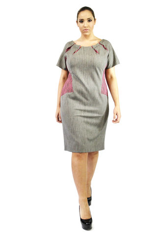 D101S13,plus size, office wear