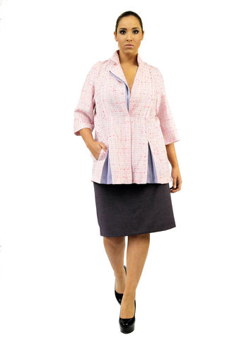 J208S13,plus size, office wear