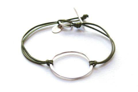 Silver,loop,bracelet,by,Little,Object,Silver loop bracelet by Little Object