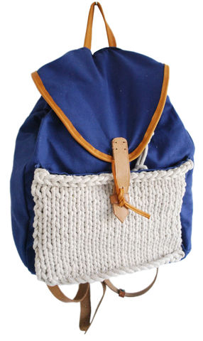 Handmade,Cotton,&,Rope,Rucksack,by,Cutoutgirls,Handmade Cotton & Rope Rucksack by Cutoutgirls