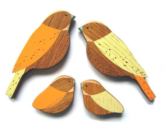 Wall bird families by Anna Wiscombe - product images  of