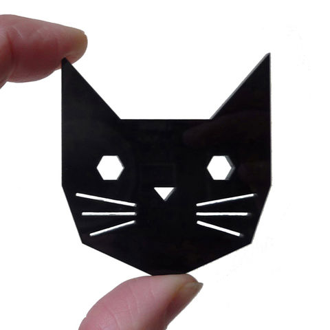 Geo,Cat,Brooch,by,Custom,Made,Geo Cat Brooch by Custom Made