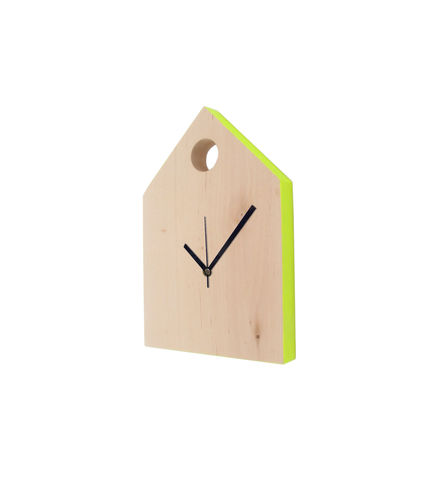 Kuckeliku,Clock,by,Lotta,Cole,Kuckeliku Clock by Lotta Cole. Swedish Birch wood