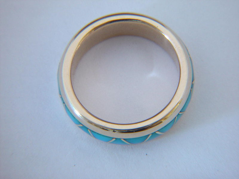 Traditional Navajo-Style Wedding Band design - 18 Karat Gold - product images  of