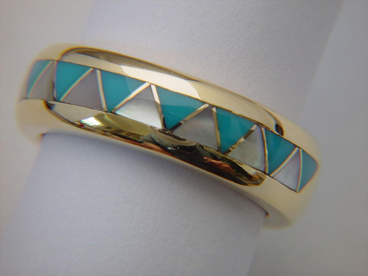 wedding ring designs navajo wedding rings Traditional Navajo Style Wedding Ring 18 Karat