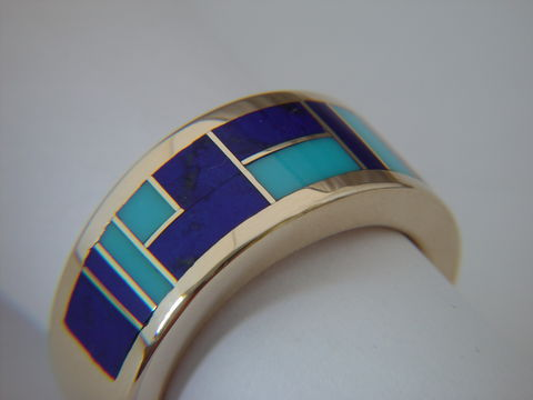 Sleeping,Beauty,Turquoise,and,Lapis,in,14,Karat,Gold,Ring