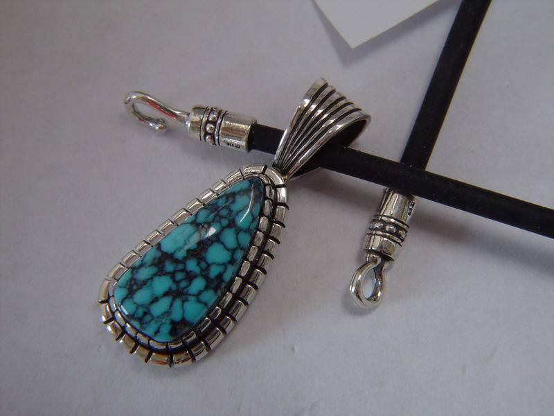 High grade tibetan spiderweb turquoise pendant carusetta jewelry aloadofball Images