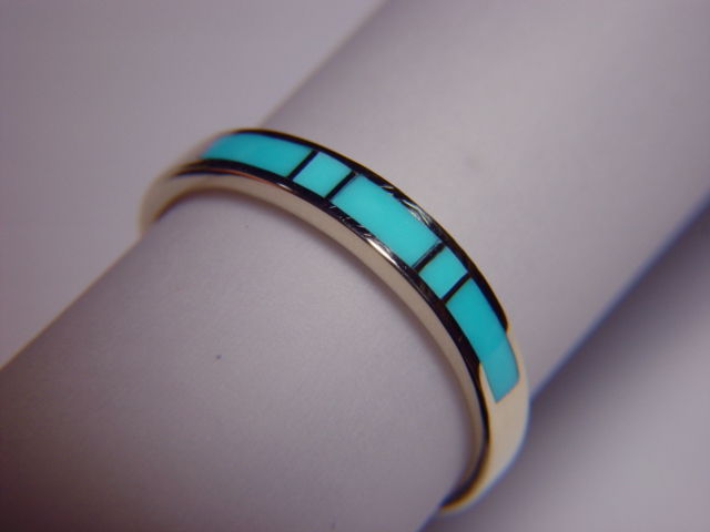 Sleeping Beauty Turquoise in 35 mm Wide 14 Karat Gold Ring