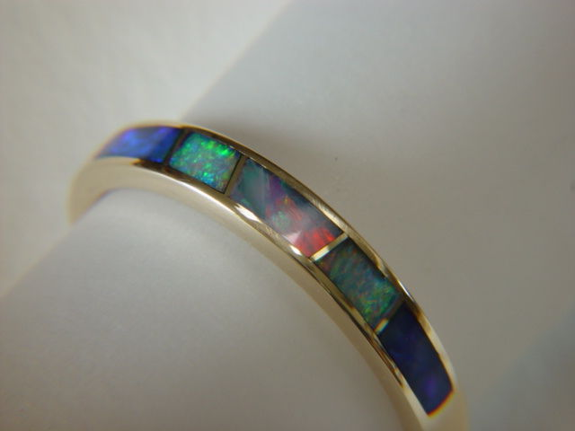 Opal in 3.5 mm Wide 14 Karat Gold Ring - product images  of
