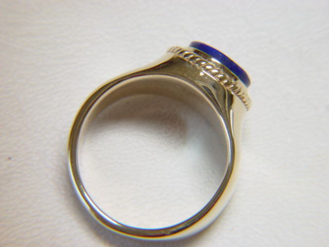 lapis lazuli set in heavy 14 karat gold ring product images of