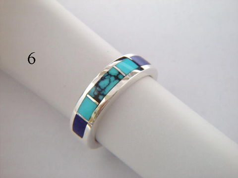 Turquoise,and,Silver,Inlay,Ring,-,5.5,mm,wide,Lapis, Inlay Ring, Turquoise  Inlay, Silver and Turquoise, silver ring, wedding ring, Inlay wedding band, Inlay wedding ring