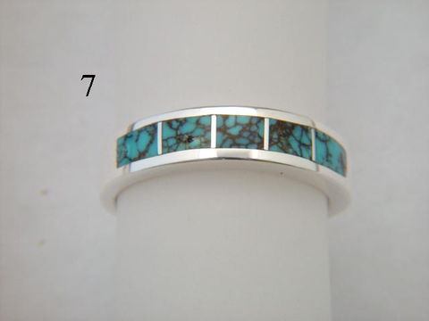 Turquoise,and,Silver,Inlay,Ring,-,5.5,mm,wide,Number Eight Turquoise, Inlay Ring, Turquoise  Inlay, Silver and Turquoise, silver ring, wedding ring, Inlay wedding band, Inlay wedding ring, carusetta