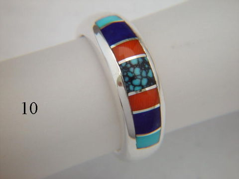 Turquoise,,Coral,,and,Lapis,,Inlaid,in,Silver,Ring,-,7,mm,wide,Spider web Turquoise, Inlay Ring, Turquoise  Inlay, Coral, Lapis Lazuli, Silver and Turquoise, silver ring, wedding ring, Inlay wedding band, Inlay wedding ring, carusetta