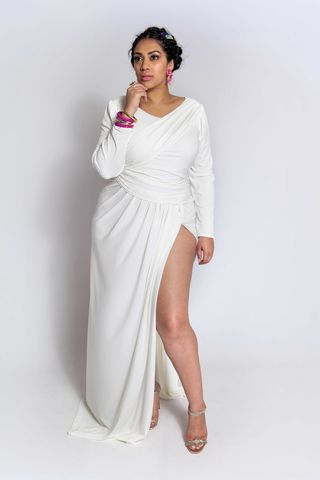 JAIMARIE,WHITE,dress, wrap dress, plus size