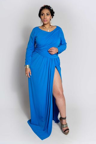 JAIMARIE,BLUE,dress, wrap dress, plus size