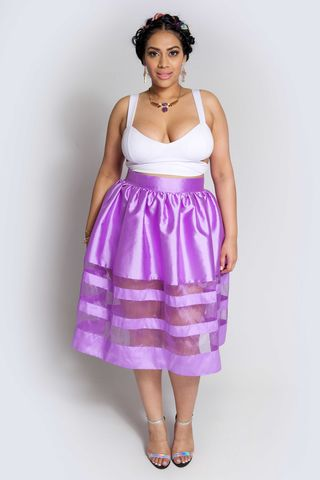 KAY,PURPLE,skirt, bottoms, plus size