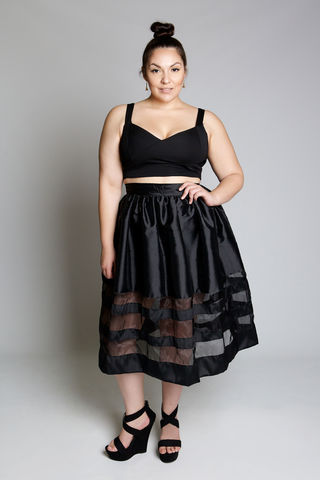 KAY,BLACK,skirt, bottoms, plus size