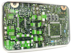 Metropolis,Motherboard, Circuit boards, Recycled, Green, Belt Buckle , Computer, nerd, techie, Jewelry