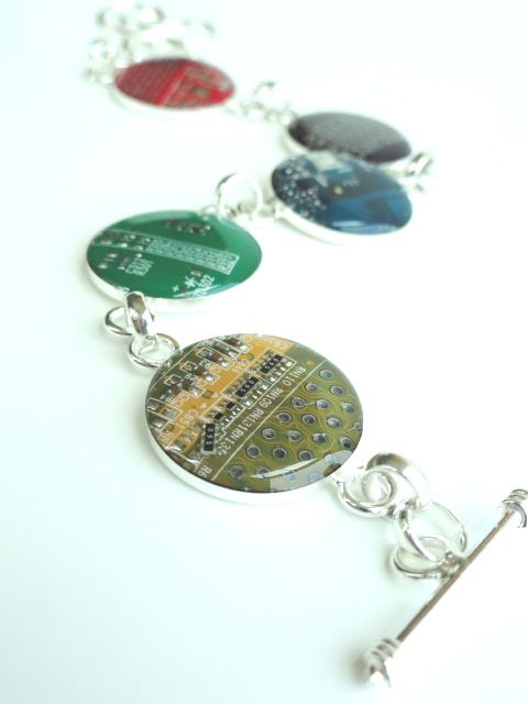 Recycled Motherboard Linked Bracelet - product images  of