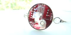 Red,Motherboard,Bracelet,Circuit board, Recycled, Computer, Motherboard, Wine Stopper, Bottle Stopper, Red, Wedding Gift, techie, IT Specialist, Engineer, Video Card
