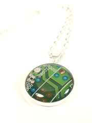 Mini,Motherboard,Necklace,Circuit board, Recycled, Computer, Motherboard, pendant, jewelry, multicolored, Wedding Gift, techie, IT Specialist, Engineer, Video Card