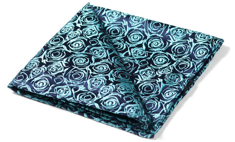 Narcissus,pocket square, floral pocket square, silk pocket square, woven silk pocket square