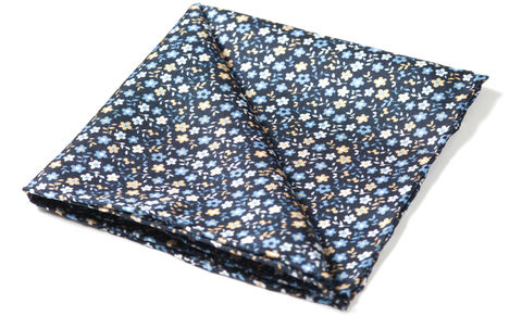 Florent,pocket square, silk pocket square, mens silk pocket square, printed silk pocket square, mens hank, handkerchief, silk handkerchief, floral pocket square