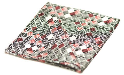 Tristan,red white and black silk pocket square, silk pocket squares uk, silk squares uk, silk hanks uk, handkerchief uk, silk handkerchief