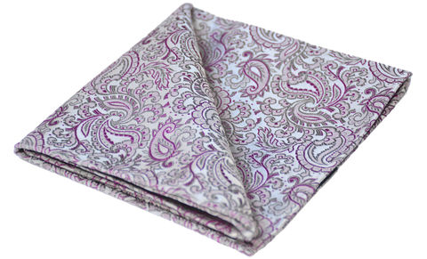 Arundel,silver silk handkerchief, silver silk pocket square, grey handkerchief, grey and pink handkerchief, mens handkerchiefs, mens pocket squares uk