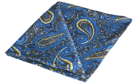 Pontus,paisley silk pocket square, silk pocket square, silk handkerchief, cravat and handkerchief, silk square, silk pocket square uk, cravats and handkerchiefs