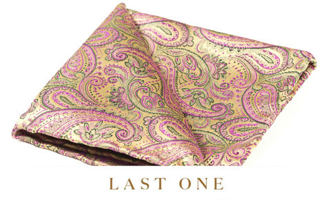 Olvir,silk pocket square, pocket squares online, pocket square uk, silk pocket square, gold pocket square, pink and gold pocket square, silk pocket square uk, pocket squares uk, hanks uk, silk hanks uk