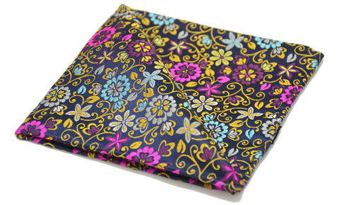 Ambrose,floral silk pocket square, floral silk square, flowers silk pocket square, floral pocket square, floral handkerchief, pocket squares for men, silk pocket squares online, silk pocket square, silk hanks online, silk handkerchiefs, buy pocket squares, pocket