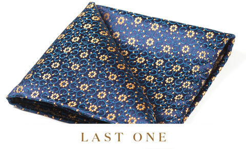 Leander,floral pocket square, floral silk pocket square, silk pocket square, groomswear pocket square, wedding cravat and pocket square, mens cravats and pocket squares, british made silk pocket squares, flower pocket square