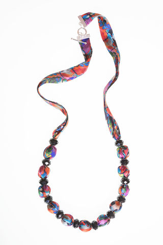 Glendurgan,Long,Necklace,long necklace, silk necklace, fabric necklace, fabric jewellery