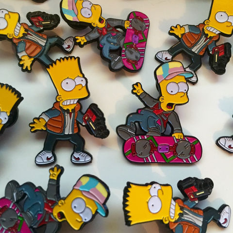 Barty,McFly,40mm,Pin,Badge,Set,bart simpson, the simpsons, simpsons pin badge, barty mcfly pin badge, the simpsons mash up, pin badges, coolest pin badges, back to the future pin badge set
