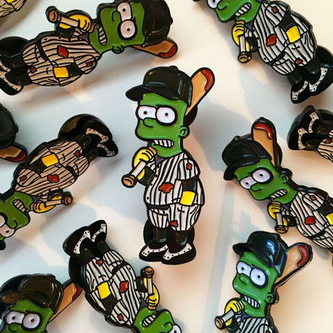 Bart,x,The,Furies,Pin,Badge,bart x the furies, the warriors pin badge, bart x the warriors pin badge, the simpsons, simpsons pin badge, the simpsons mash up, pin badges, coolest pin badges