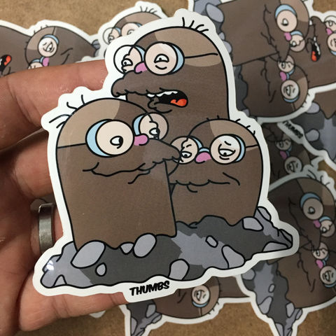 Hans,Moleman,x,Dugtrio,Pokemon,Die,Cut,Vinyl,Sticker,Hans Moleman x Dugtrio Pokemon Die Cut Vinyl Sticker, pokemon simpsons sticker, the simpsons mash up, the simpsons stickers, thumbs design, @thumbs1, thumbs artist