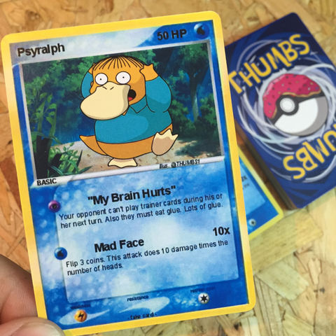 Ralph,x,Psyduck,Pokemon,Trading,Card,Ralph x Psyduck Pokemon Trading Card, Pokemon simpsons trading card, pokemon simpsons sticker, the simpsons mash up, the simpsons stickers, thumbs design, @thumbs1, thumbs artist