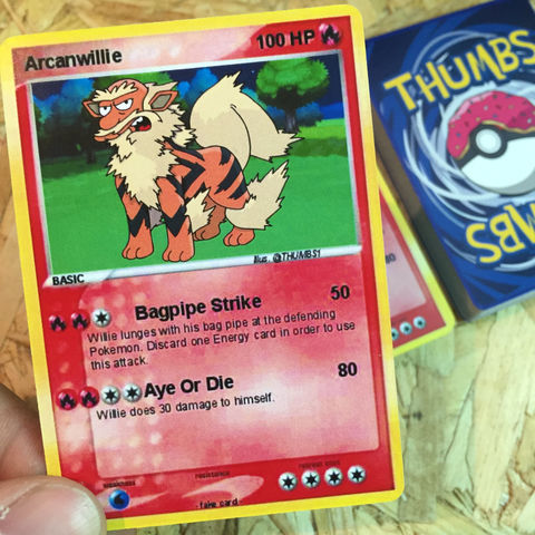 Groundskeeper,Willie,x,Arcanine,Pokemon,Trading,Card,Groundskeeper Willie x Arcanine Pokemon Trading Card, Pokemon simpsons trading card, pokemon simpsons sticker, the simpsons mash up, the simpsons stickers, thumbs design, @thumbs1, thumbs artist
