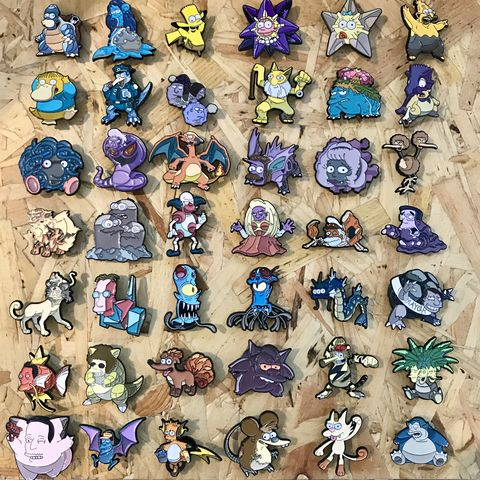 Simpsons,x,Pokemon,Pin,Bundles,Simpsons x Pokemon Pin Bundles, simpsons and pokemon crossover pins