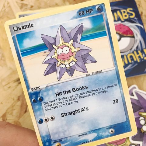 Lisa,x,Starmie,Pokemon,Trading,Card,Lisa x Starmie Pokemon Trading Card, Pokemon simpsons trading card, pokemon simpsons sticker, the simpsons mash up, the simpsons stickers, thumbs design, @thumbs1, thumbs artist