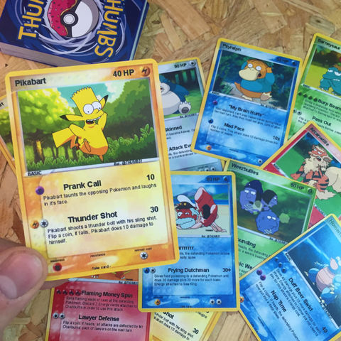Simpsons,x,Pokemon,Trading,Card,Bundles,Simpsons x Pokemon Trading Card Bundles, simpsons and pokemon crossover pins