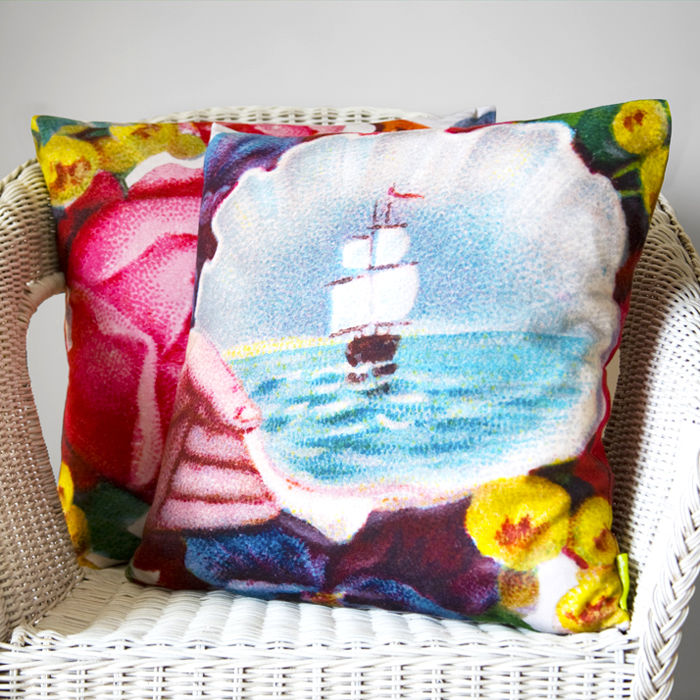 Sail Away Nautical Cushion - product image