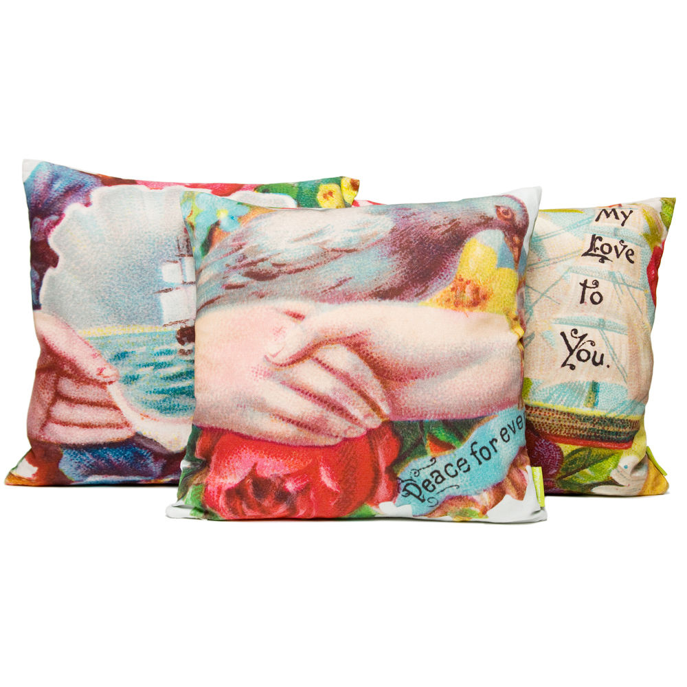 Peace For Ever Bird Cushion - product images  of